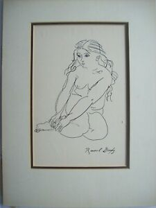 raoul dufy untitled ink drawing