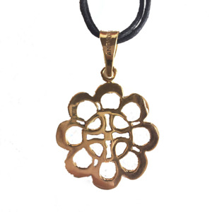 Brass Flower of Cambodia Pendant