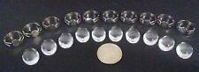 Lot Of 10 Cabochons And 10 Adjustable Cabochon Art Rings For Jewelry Making