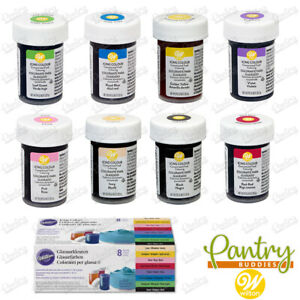 Wilton Food Colouring - Icing Set 8 Pack / Single Concentrated Food Colour Paste