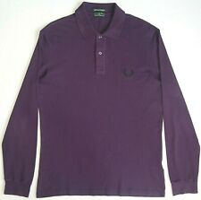 Fred Perry London Light and Stretch Polo Rare Long Sleeve Top Shirt Men's XL