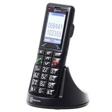 Amplicom Powertel M6000 Senioren Handy frei für alle Karten Schwarz