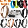New Stainless Steel/Silicone Wristband Metal Wrist Bracelet For Xiaomi Mi Band 3