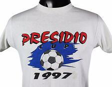 Vtg 90s Presidio Cup Soccer Tournament T-Shirt Sm 50/50 San Diego Youth League