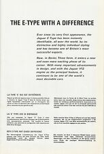 ✇ Original Jaguar E Type Technikprospekt Abmessungen brochure TOP!