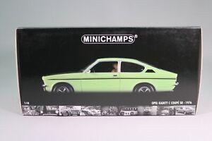 LE992 MINICHAMPS 180045625 Voiture 1/18 1:18 Opel Kadett C coupé SR 1976 verte