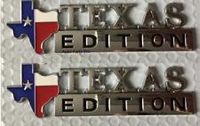 2x  Ford F-150 TEXAS Edition Chrome Emblem For Chevrolet Silverado SIERRA GM