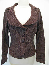 DOKI GEKI Bordeaux  Jacket With Front Button Design Size M,NWT