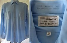 Mens Vintage 1970s Sears Shirt 15-1/2 34/35 Short Sleeve Polyester