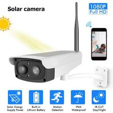 Hiseeu Solar Security WIFI IP Camera 1080P HD Rechargeable Battery/Solar Powered