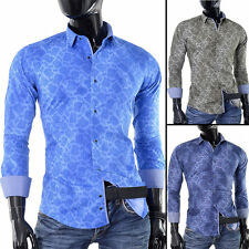 Cotton Blend Paisley Slim Casual Shirts & Tops for Men