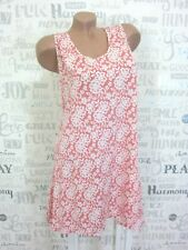Sommerkleid Strand Kleid Tunika A-Form Spitzendruck IBIZA 42 44 46 Lachs E523
