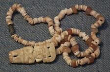 Antique Pre-Columbian 500-1500 A.D. Tairona Necklace Pendant With Priest Figure