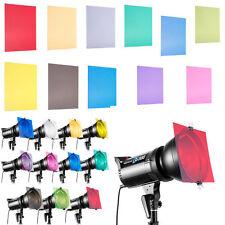 "12"" 11 Colors Set Gel Filter Sheet for Photography Flash Studio Strobe Lighting"