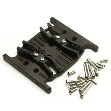 Alloy Center Skid Transmission Plate For AXIAL SCX10 1/10 RC  Rock Crawler Black