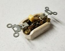Vintage Bryant Porcelain Light Switch Steampunk Patina with Cover