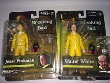 Mezco, Breaking Bad Lot of 2, Walter White & Jesse Pinkman in Yellow Hazmat Suit