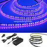 5M UV Ultraviolet 395nm 3528 SMD Purple 600 LED Flex Strip Light 12V & power kit