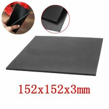 """1/9"""" Thick Black Rubber Sheet Chemical Resistance High Temperature 152x152x3mm /"""