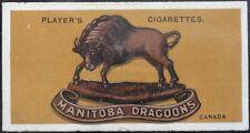 No.10 CANADA MANITOBA DRAGOONS Colonial & Indian Army Badges - John Player 1917