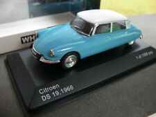 1/43 White Box Citroen DS 19 1966 hellblau/weiss 216288