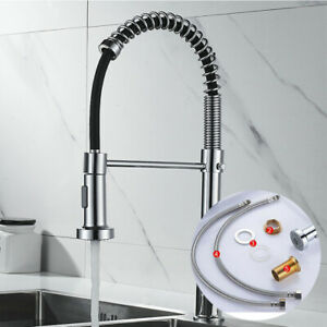 Modern Mono Kitchen Mixer Tap Pull-out Hose Spray Chrome Basin Sink Faucet Taps