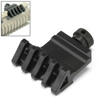 Tactical Rail Mount 45 degree Angle Offset 20mm Weaver Picatinny 5 Slot Light