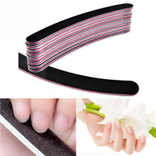 10 x Black Nail Files Sanding Square Grit Nail Art Tips Manicure Cleaner Tool