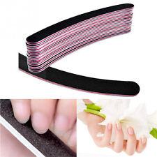 10Pcs Nail Sanding Files Polish Buffer Block Manicure Pedicure Tips Tools Gel