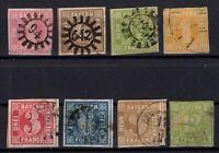 T4220/ GERMANY – BAVARIA – MI # 3 / 5 – 8 / 12 USED – CV 255 $
