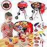 CHILDRENS PRETEND BARBEQUE BBQ GRILL ROLE PLAY TOY SET WITH LIGHTS & SOUNDS