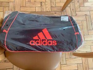 """NWT Adidas MEDIUM Diablo Duffel 25"""" Bag BLACK RED Sports Gym Travel"""