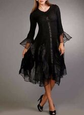 Jerry T Stretchy Dress 2X 22 24 Black Party Dress SR113 Holiday Dress New