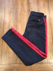 Tommy Hilfiger Custom Fit Men's Blue W/ Red Stripe Pants Size 30x32