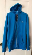 Quicksilver Men's Blue ZIP Up Hoody SZ XL Quick Tech Layering NEW