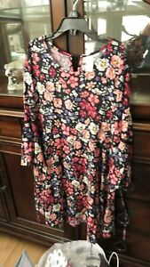 Justice Black Floral Dress Size 14