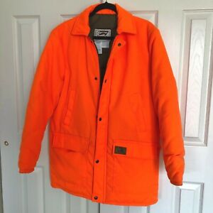 Orange DUXBAK Hunting Coat Insulated Jacket Safety Quilted Sportsman / Sz L