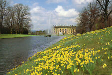 Postcard  Derbyshire Chatsworth  House  Bakewell  the canal pond unposted