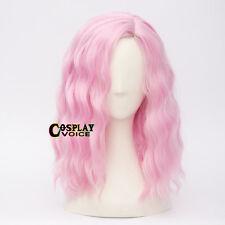 Fancy Party Lolita Light Pink  40CM Medium Curly Women Girls Cosplay Wig
