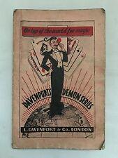 Vintage 1950's Davenports Demon Series Magic Trick Jokes Puzzle Book Catalogue