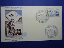 LOT 12857 TIMBRES STAMP ENVELOPPE MONT BLANC FRANCE ANNEE 1986