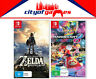 The Legend Of Zelda Breath Of The Wild & Mario Kart 8 Deluxe Switch New & Sealed