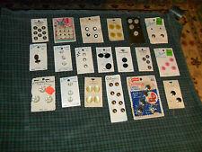Vintage Buttons Lot On Header Cards 19 pcs