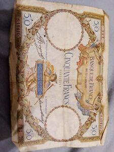 BILLET DE 50 FRANCS LUC OLIVIER MERSON 1934