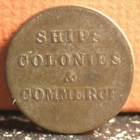 Very Nice Canada 1853 Ships, Colonies & Commerce Token Type PE-10-43