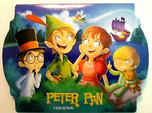 PETER PAN POP-UP PICTURE Board Book Toddler Pre-K English NEW!