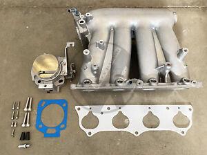 Honda RBC Clipped Intake Manifold K20 K24 Swap w/ Blox 70mm Throttle Body