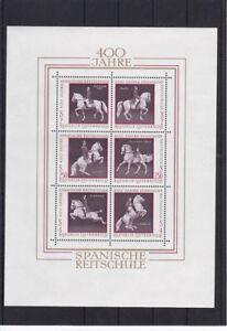 1972 Block 400 Jahre Spanische Hofreitschule Postfrisch ** MNH
