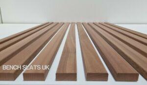 12 Solid Sapele Hardwood Garden Bench Slats 1220mm  (4ft) 2 Seater
