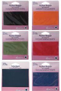Hemline Nylon Self Adhesive Waterproof Repair Patches Mending Coats Tents Bags